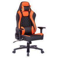 X-rocker® Polyester Swivel Pcrr2 Chair in Black/orange