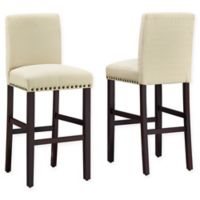 """Dwell Home® Polyester Upholstered Madrid 30"""" Bar Stool in Off White"""