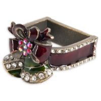 Saro Lifestyle Christmas Bell Napkin Rings in Red (Set of 4)