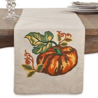 Saro Lifestyle Pumpkin 72-Inch Table Runner in Natural