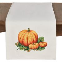 Saro Lifestyle Pumpkin Patch 72-Inch Table Runner in Ivory