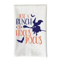 """Love You a Latte Shop """"Just A Bunch Of Hocus Pocus"""" Kitchen Towel in White"""