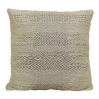 Diamond Indoor/Outdoor Square Throw Pillow in Natural