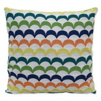 Waves Indoor/Outdoor Multicolor Square Throw Pillow
