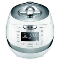Cuckoo Electronics® 6-Cup Induction Heating Pressure Rice Cooker in White