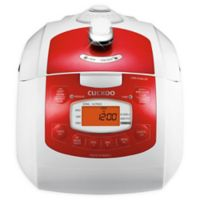 Cuckoo FA0610FR 6-Cup Rice Cooker in Red/White