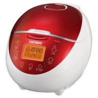 Cuckoo Electronics Micom 6-Cup Rice Cooker and Warmer in Red