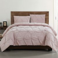 Truly Soft Everyday Pleated Velvet Twin XL Comforter Set in Blush