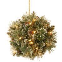 National Tree Company 12-Inch Glittery Bristle Pine Christmas Kissing Ball