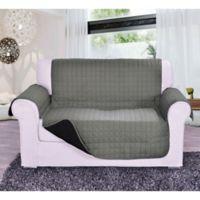 Reversible Love Seat Furniture Protector in Grey/Black