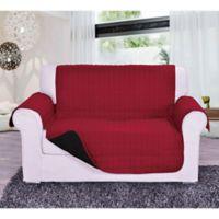 Reversible Love Seat Furniture Protector in Burgundy/Black