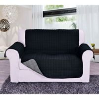 Reversible Love Seat Furniture Protector in Black/Grey