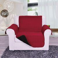 Reversible Chair Furniture Protector in Burgundy/Black