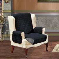 Reversible Wing Chair Furniture Protector in Black/Grey