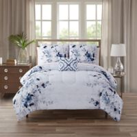 Giselle California King 12-Piece Comforter Set in Blue