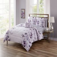 Giselle California King 12-Piece Comforter Set in Purple