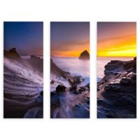 Cody York 24-Inch x 36-Inch Cape Kiwanda in Oregon 3-Piece Symmetrical Canvas Wall Art