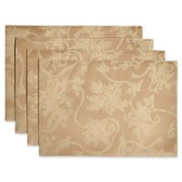 Christmas Ribbons Placemats in Gold (Set of 4)