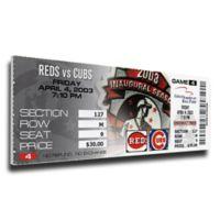 MLB Chicago Cubs Sports 9-Inch x 32-Inch Framed Wall Art