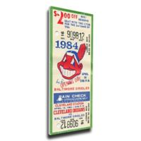 MLB Cleveland Indians Sports 9-Inch x 34-Inch Framed Wall Art