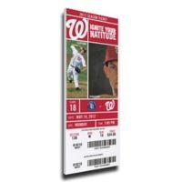 MLB Washington Nationals Sports 16-Inch x 28-Inch Framed Wall Art
