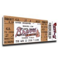 MLB Atlanta Braves Sports 9-Inch x 33-Inch Framed Wall Art