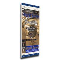 MLB Atlanta Braves Sports 12-Inch x 34-Inch Framed Wall Art