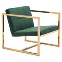 Zuo® Alain Arm Chair in Green