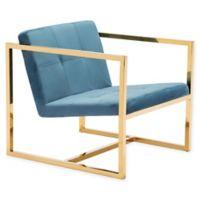 Zuo® Alain Arm Chair in Blue