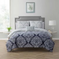 Cambridge King 12-Piece Comforter Set in Navy