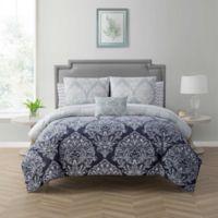 Cambridge California King 12-Piece Comforter Set in Navy