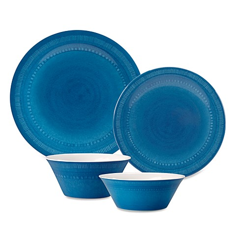 Reactive Dinnerware Collection - Blue  sc 1 st  Bed Bath \u0026 Beyond & Reactive Dinnerware Collection - Blue - Bed Bath \u0026 Beyond
