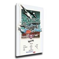 MLB Miami Marlins Sports 17-Inch x 28-Inch Framed Wall Art