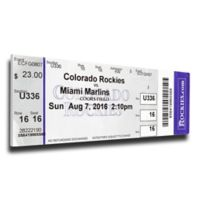 MLB Miami Marlins Sports 12-Inch x 32-Inch Framed Wall Art