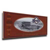 MLB Milwaukee Brewers Sports 14-Inch x 33-Inch Framed Wall Art