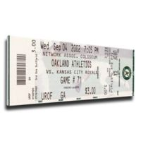 MLB Oakland A's Sports 11-Inch x 32-Inch Framed Wall Art