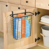iDesign® Axis Over the Cabinet Waste/Storage Basket in Bronze