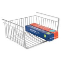 iDesign® York Lyra Under Shelf Basket in Silver