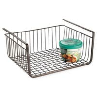 iDesign® York Lyra Under Shelf Basket in Bronze