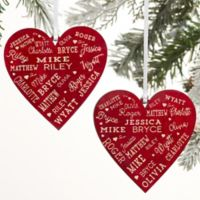 Close To Her Heart Personalized 2-Sided Red Wood Christmas Ornament in Red