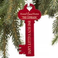 New Home Personalized Key Ornament