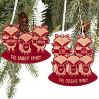 Fox Family Ornament in Red