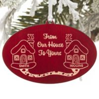 From Our House To Yours Christmas Ornament in Red