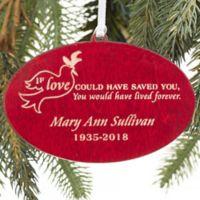 Forever Loved Memorial Christmas Ornament in Red