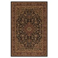 Concord Global Medallion Kashan Black 3-Foot 11-Inch x 5-Foot 7-Inch Rug