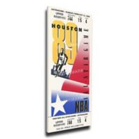 NBA Houston Rockets Sports 15-Inch x 30-Inch Framed Wall Art