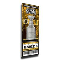 NHL Boston Bruins Sports 12-Inch x 32-Inch Framed Wall Art