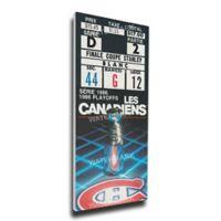 NHL Montreal Canadiens Sports 12-Inch x 32-Inch Framed Wall Art