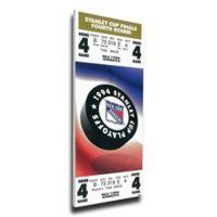 NHL New York Rangers Sports 13-Inch x 32-Inch Framed Wall Art