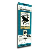 NHL San Jose Sharks Sports 14-Inch x 32-Inch Framed Wall Art